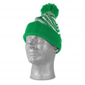 KELLY GREENWHITE ZEBRA KNIT HAT