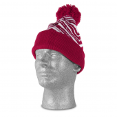 NEW MAROONWHITE ZEBRA KNIT HAT