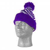 PURPLEWHITE ZEBRA KNIT HAT