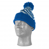 ROYAL BLUEWHITE ZEBRA KNIT HAT