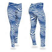 Royal Blue White Zebra Legging