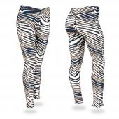 Navy BlueMetallic Gold Zebra Legging