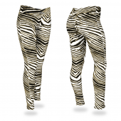 BlackMetallic Gold Zebra Legging