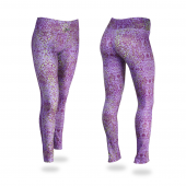 LilacSpring GreenPlum Post Print Legging