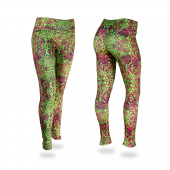 Spring GreenFuchsiaBlack Post Print Legging