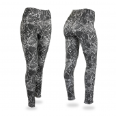 BlackGrayWhite Post Pattern Legging