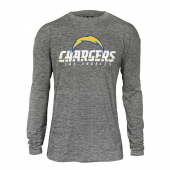 Mens Los Angeles Chargers Gray Space Dye Long Sleeve Tshirt