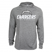 Mens Los Angeles Chargers Gray Space Dye Light Weight Hoodie