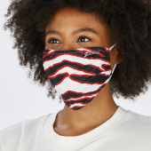 2 Pack Adult Size BlackRed Zebra Mask One Size