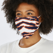 2 Pack Adult Size Navy BlueOrange Zebra Mask One Size