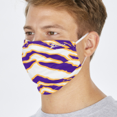 2 PACK ADULT SIZE PURPLEGOLD ZEBRA MASK ONE SIZE