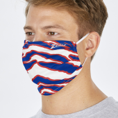 2 Pack Adult Size Royal BlueRed Zebra Mask One Size