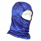 Purple Light Blue Fleece HoodMask