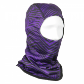 BlackPurple Fleece HoodMask