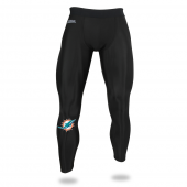 Mens Miami Dolphins Black Legging