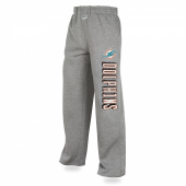 Mens Miami Dolphins Heather Gray Sweatpant
