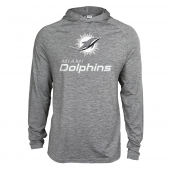 Mens Miami Dolphins Gray Space Dye Light Weight Hoodie
