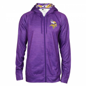 Minnesota Vikings Space Dye Full Zipper Hoodie