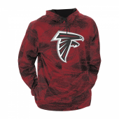 Atlanta Falcons BlackScarlet Static Hood W Logo