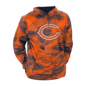 Chicago Bears Navy BlueOrange Static Hood W Logo