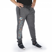 Miami Dolphins Dark Heather Gray Marled French Terry Jogger