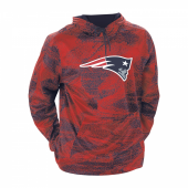 New England Patriots Navy BlueRed Static Hood W Logo