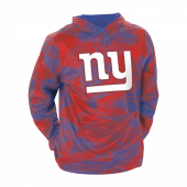New York Giants Royal BlueRed Static Hood W Logo
