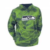 Seattle Seahawks Navy BlueNeon Green Static Hood W Logo