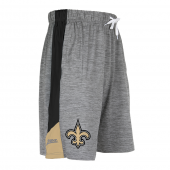 New Orleans Saints Gray Space Dye Short With Stripe
