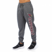 Arizona Cardinals Gray With Zebra Wordmark Poly Fleece Jogger