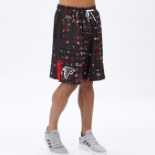 Atlanta Falcons BlackRed Printed Grid Short