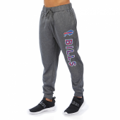 Buffalo Bills Gray With Zebra Wordmark Poly Fleece Jogger