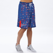 Buffalo Bills BlueRed Printed Grid Short