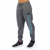 Carolina Panthers Gray With Zebra Wordmark Poly Fleece Jogger
