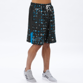 Carolina Panthers BlackPanther Blue Printed Grid Short