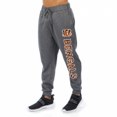 Cincinnati Bengals Gray With Zebra Wordmark Poly Fleece Jogger