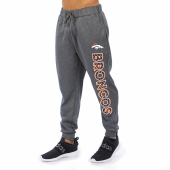 Denver Broncos Gray With Zebra Wordmark Poly Fleece Jogger