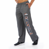Denver Broncos Dark Heather Gray Poly Fleece Sweatpant