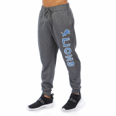 Detroit Lions Gray With Zebra Wordmark Poly Fleece Jogger