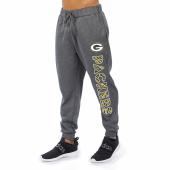 Green Bay Packers Gray With Zebra Wordmark Poly Fleece Jogger