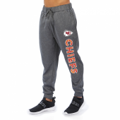 Kansas City Chiefs Gray With Zebra Wordmark Poly Fleece Jogger