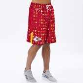 Kansas City Chiefs RedGold Printed Grid Short