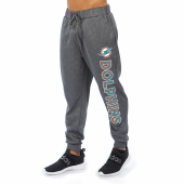 Miami Dolphins Gray With Zebra Wordmark Poly Fleece Jogger