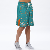 Miami Dolphins MarinaOrange Printed Grid Short