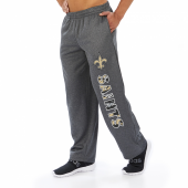 New Orleans Saints Dark Heather Gray Poly Fleece Sweatpant