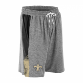 New Orleans Saints Gray Space Dye BlackBurn Gold Static Short