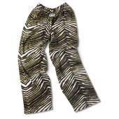 New Orleans Saints BlackBurnished Gold Zebra Pants