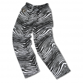Oakland Raiders BlackMetallic Silver Zebra Pants