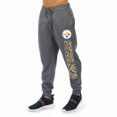 Pittsburgh Steelers Gray With Zebra Wordmark Poly Fleece Jogger