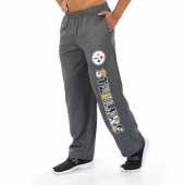 Pittsburgh Steelers Dark Heather Gray Poly Fleece Sweatpant